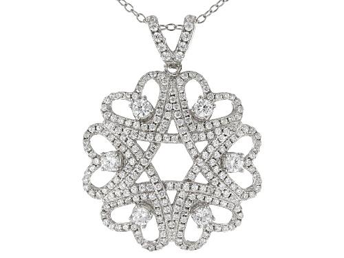 Photo of Bella Luce ® 3.27CTW White Diamond Simulant Rhodium Over Silver Pendant With Chain