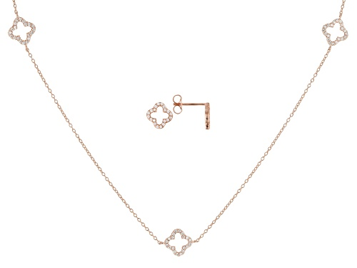 Photo of Bella Luce ® 1.40CTW White Diamond Simulant Eterno ™ Rose Necklace & Earrings Set