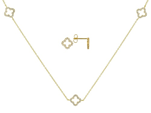 Photo of Bella Luce ® 1.40CTW White Diamond Simulant Eterno ™ Yellow Necklace & Earrings Set
