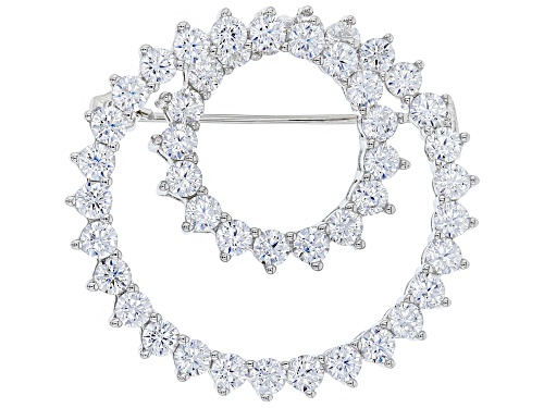 Photo of Bella Luce ® 8.28CTW White Diamond Simulant Rhodium Over Sterling Silver Brooch