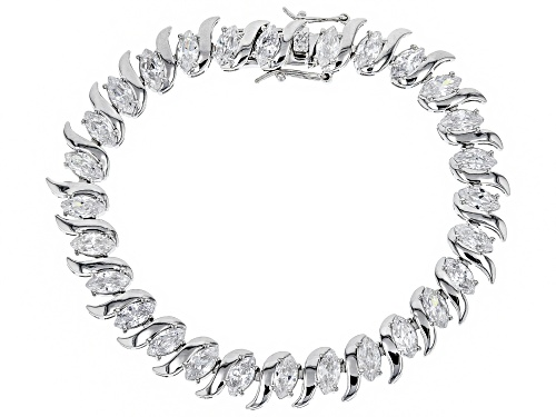Photo of Bella Luce ® 20.00CTW White Diamond Simulant Rhodium Over Sterling Silver Bracelet - Size 7.25