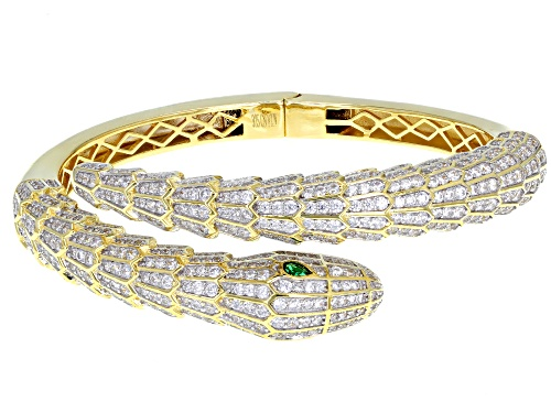 Photo of Bella Luce ® 11.00CTW Emerald & White Diamond Simulants Eterno ™ Yellow Snake Bracelet - Size 7