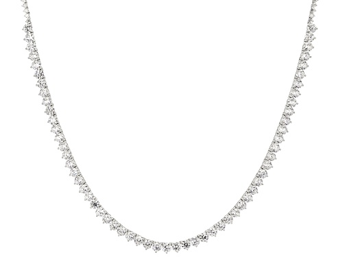 Photo of Bella Luce ® 51.50CTW White Diamond Simulant Rhodium Over Sterling Silver Necklace - Size 18