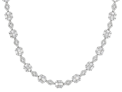 Bella Luce® 21.25ctw Rhodium Over Sterling Silver Necklace - Size 19