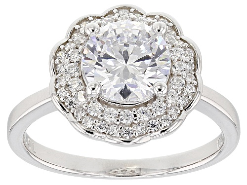 Photo of Bella Luce ® 3.50CTW White Diamond Simulant Rhodium Over Sterling Silver Ring - Size 9