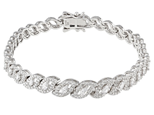 Photo of Bella Luce ® 5.30CTW White Diamond Simulant Rhodium Over Sterling Silver Bracelet - Size 7.5