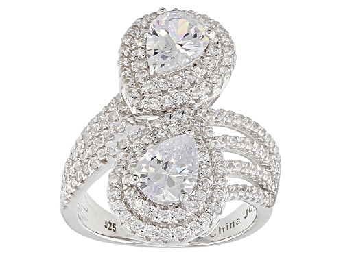 Photo of Bella Luce ® 4.80CTW White Diamond Simulant Rhodium Over Sterling Silver Ring - Size 7