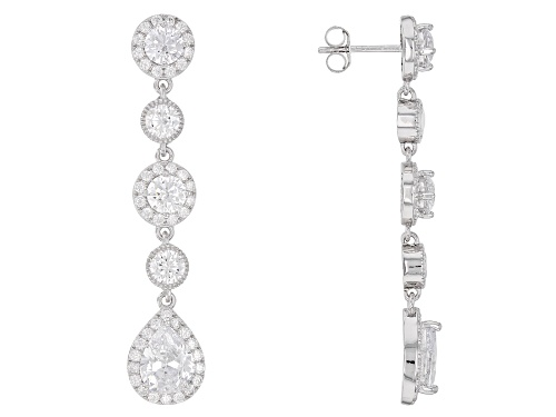 Photo of Bella Luce ® 10.00CTW White Diamond Simulant Rhodium Over Sterling Silver Earrings