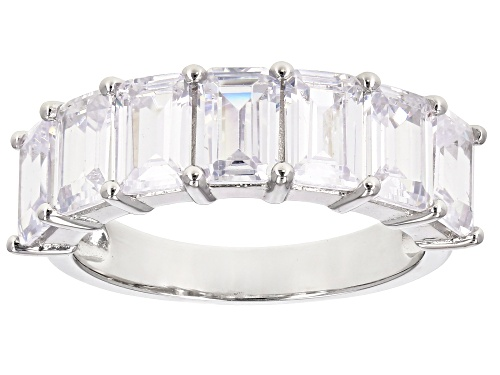 Photo of Bella Luce ® 7.90CTW White Diamond Simulant Rhodium Over Sterling Silver Ring - Size 10