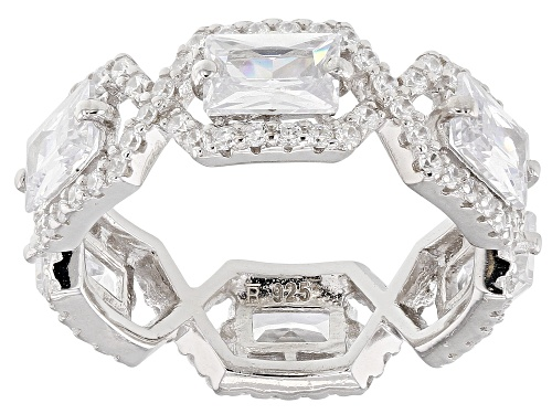 Photo of Bella Luce ® 7.74CTW White Diamond Simulant Rhodium Over Sterling Silver Ring - Size 6
