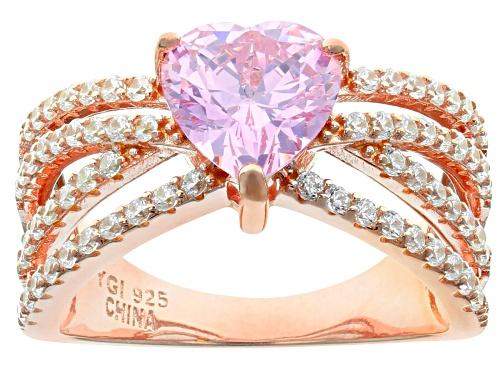 Photo of Bella Luce ® 4.22CTW Pink & White Diamond Simulants Eterno ™ Rose Heart Ring - Size 11