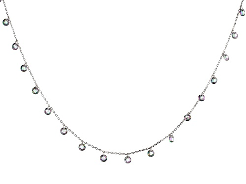 Photo of Bella Luce® Esotica ™ 27.45ctw Mystic Topaz Simulant Rhodium Over Sterling Silver Necklace - Size 36