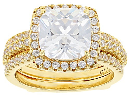 Photo of Bella Luce ® 8.05CTW White Diamond Simulant Eterno ™ Yellow Ring With Guard - Size 10