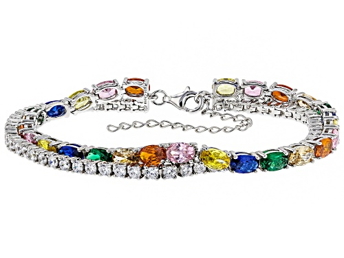 Photo of Bella Luce ® 23.20CTW Multicolor Gemstone Simulants Rhodium Over Sterling Silver Bracelet - Size 7
