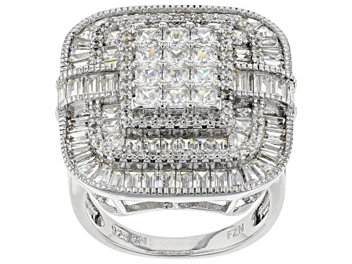 Photo of Bella Luce ® 6.00CTW White Diamond Simulant Rhodium Over Sterling Silver Ring - Size 7