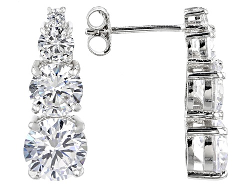 Photo of Bella Luce ® 8.18CTW White Diamond Simulant Rhodium Over Sterling Silver Earrings