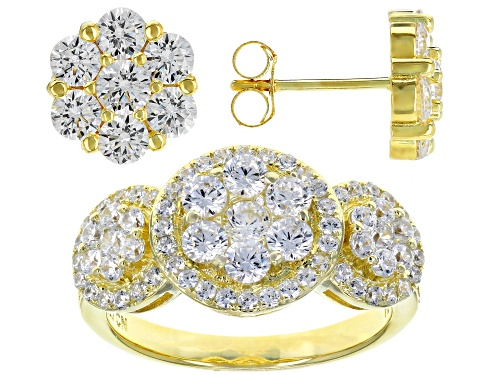 Photo of Bella Luce ® 5.44CTW White Diamond Simulant Eterno ™ Yellow Ring & Earrings Set (3.22CTW DEW)