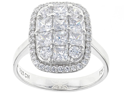 Photo of Bella Luce ® 3.03CTW White Diamond Simulant Rhodium Over Sterling Silver Ring (1.90CTW DEW) - Size 10