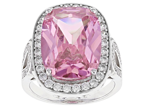 Photo of Bella Luce ® 7.65ctw Pink And White Diamond Simulants Rhodium Over Sterling Silver Ring - Size 7