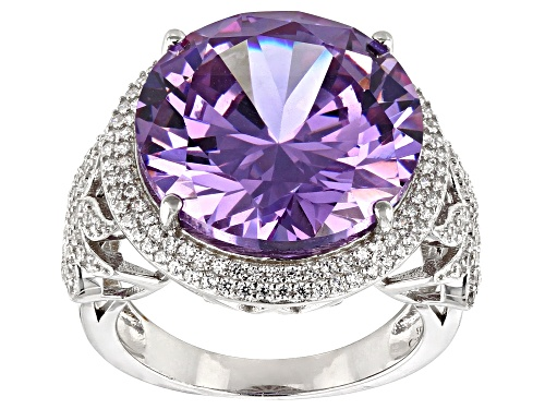 Photo of Bella Luce® 24.05ctw Lavender And White Diamond Simulants Rhodium Over Silver Ring(13.44ctw DEW) - Size 7