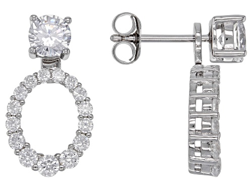 Photo of Bella Luce ® 2.90ctw White Diamond Simulant Rhodium Over Sterling Silver Earrings