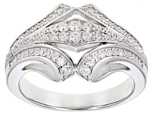 Photo of Bella Luce ® 0.89ctw White Diamond Simulant Rhodium Over Sterling Silver Ring - Size 7