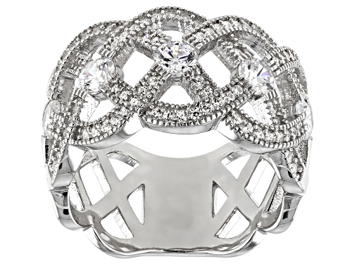 Photo of Bella Luce ® 2.17ctw White Diamond Simulant Rhodium Over Sterling Silver Band Ring - Size 7