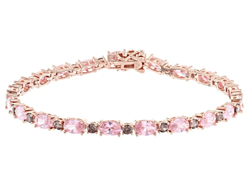 Photo of Bella Luce ® 17.60ctw Pink And Mocha Diamond Simulants Eterno™ Rose Tennis Bracelet - Size 7.5
