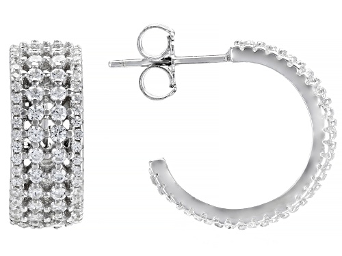 Photo of Bella Luce ® 1.35ctw White Diamond Simulant Rhodium Over Sterling Silver Hoop Earrings