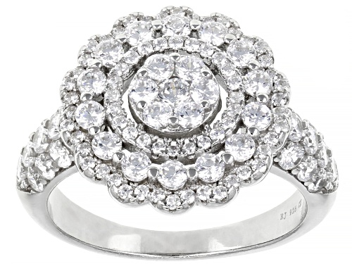 Photo of Bella Luce ® 2.50ctw White Diamond Simulant Rhodium Over Sterling Silver Ring - Size 9
