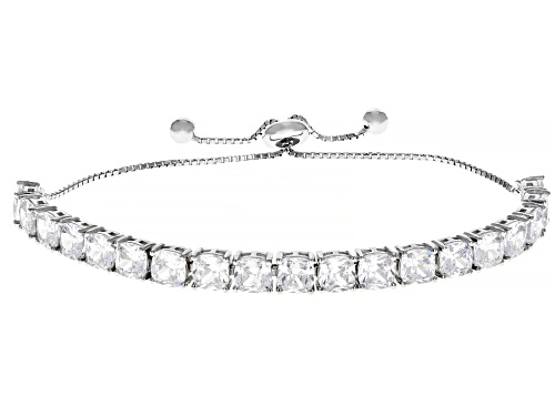 Photo of Bella Luce ® 14.08ctw White Diamond Simulant Rhodium Over Silver Adjustable Bracelet (8.74ctw DEW)