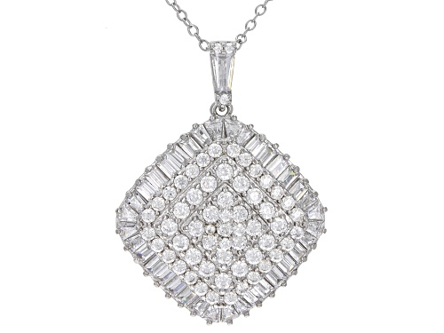 Photo of Bella Luce ® 4.47ctw White Diamond Simulant Rhodium Over Silver Pendant With Chain (2.71ctw DEW)