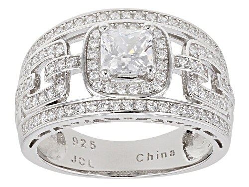 Photo of Bella Luce ® 2.35ctw White Diamond Simulant Rhodium Over Sterling Silver Ring - Size 10