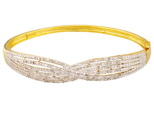 Photo of 1.00ctw Round White Diamond 14k Yellow Gold Over Sterling Silver Bracelet - Size 8