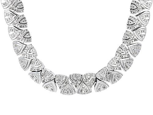 Photo of Emulous™ 1.00ctw Round White Diamond Rhodium Over Brass Necklace - Size 18