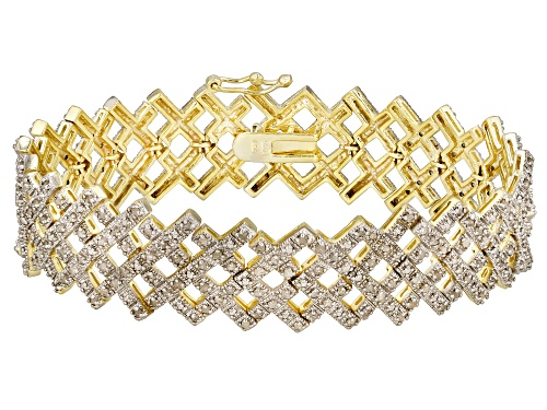 Photo of Emulous ™ 2.00ctw Round White Diamond 18k Yellow Gold Over Brass Bracelet - Size 7.25
