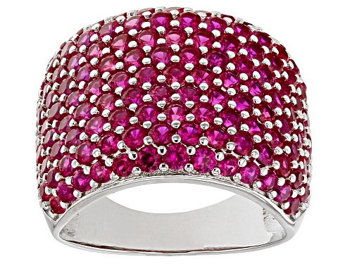 Photo of Bella Luce® 5.10ctw Ruby Simulant Rhodium Over Sterling Silver Ring - Size 8