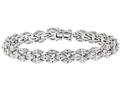Photo of Bella Luce ® 26.13ctw White Diamond Simulant Rhodium Over Sterling Silver Bracelet (16.75ctw DEW) - Size 8