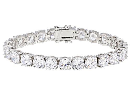 Photo of Bella Luce ® 33.80ctw White Diamond Simulant Rhodium Over Sterling Silver Tennis Bracelet - Size 7.5