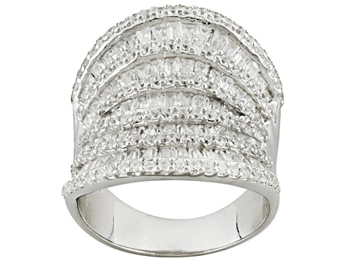 Photo of Bella Luce ® 7.00ctw Baguette And Round Rhodium Over Sterling Silver Ring - Size 5