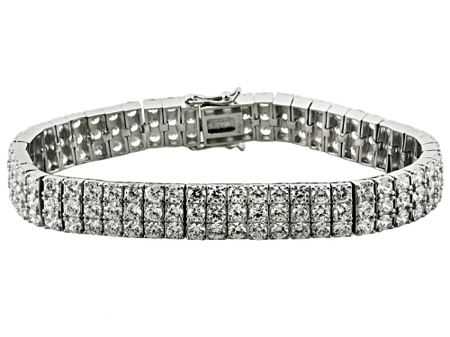 Photo of Bella Luce ® 30.00ctw Round Rhodium Over Sterling Silver Bracelet (16.50ctw Dew) - Size 7