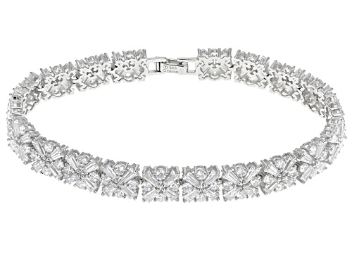 Photo of Bella Luce ® 27.50ctw Tapered Baguette & Round Rhodium Over Sterling Silver Bracelet - Size 7.5