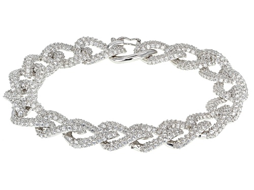 Photo of Bella Luce ® 23.25ctw Round Rhodium Over Sterling Silver Bracelet (12.00ctw Dew) - Size 7.5