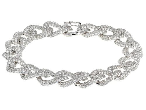 Bella Luce ® 23.25ctw Round Rhodium Over Sterling Silver Bracelet (12.00ctw Dew) - Size 7.5