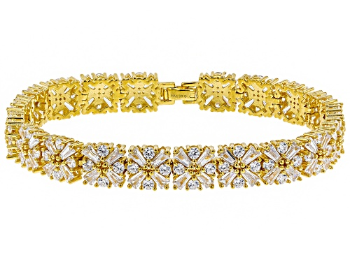 Photo of Bella Luce ® 27.50ctw Tapered Baguette & Round Rhodium Over Sterling Silver Bracelet - Size 8
