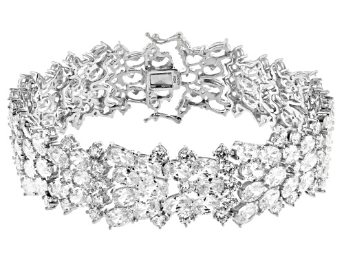 Photo of Bella Luce ® 73.92ctw Oval & Round Rhodium Over Sterling Silver Bracelet - Size 7.25