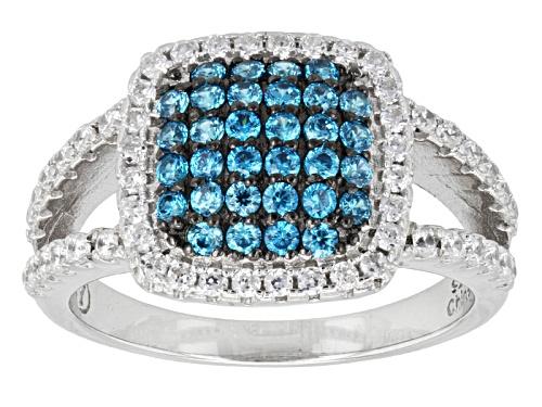 Photo of Bella Luce ® 1.76ctw Neon Apatite & White Diamond Simulant Rhodium Over Sterling Silver Ring - Size 11