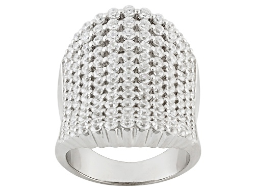 Photo of Bella Luce ® 5.80ctw Round Rhodium Over Sterling Silver Ring (3.25ctw Dew) - Size 7