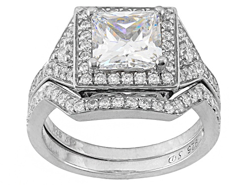 Photo of Bella Luce ® 4.20ctw Rhodium Over Sterling Silver Ring With Band (2.70ctw Dew) - Size 9