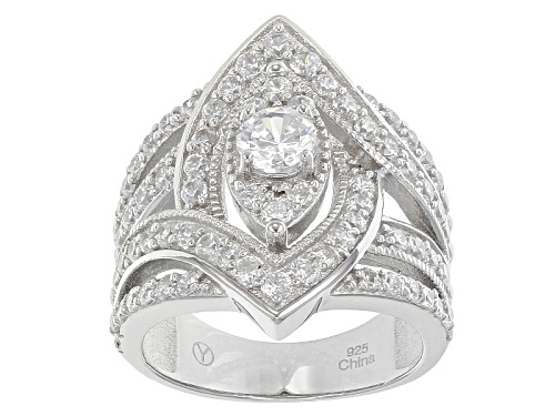 Photo of Bella Luce ® 4.00ctw Rhodium Over Sterling Silver Ring (2.17ctw Dew) - Size 11